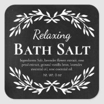 Black Vintage Relaxing DIY Bath Salt Labels | Zazzle.com Diy Body Wash, Homemade Body Wash, Homemade Scrub, Vintage Chalkboard, Chalkboard Labels, Black Chalkboard, Chalkboard Background, Diy Bath Salt Labels, Diy Soap Labels