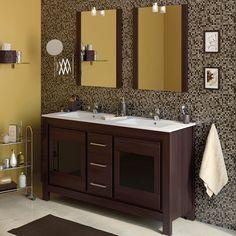 50 Fotos de móveis para casa de banho pequena ~ Decoração e Ideias Ideas Para, Mirror, Bathroom, House, Furniture, Home Decor, Small Bathrooms, Night Lamps, Restroom Decoration