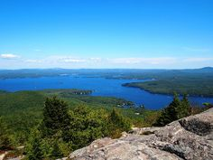 Lake Winnipesaukee from the Mt. Major, NH summit. The whole family hiked to the top of this mountain. Great views. Mount Major is a mountain located in Alton, New Hampshire, south of Lake Winnipesaukee and northeast of Straightback Mountain of the Belknap Range.