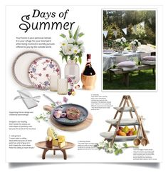 """Summer Outdoor Dining"" by m-aric ❤ liked on Polyvore featuring interior, interiors, interior design, home, home decor, interior decorating, House Doctor, Crate and Barrel and GreenPan"