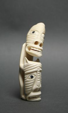 Tupilak (carved ivory) - unidentified Inuit artist