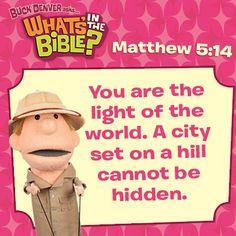 Matthew 5:14 short, free devotional at whatsinthebible.com