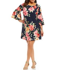 Shop for Eliza J Plus Floral Print Bell Sleeve Shift Dress at Dillards.com. Visit Dillards.com to find clothing, accessories, shoes, cosmetics & more. The Style of Your Life.