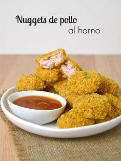 Nuggets de pollo al horno ¡Super crujientes!