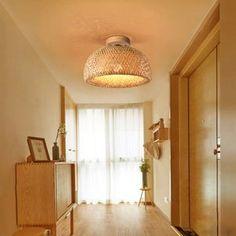 Handgemachte Rattan Lampe Wicker Lampe Boho Stil Lampenschirm | Etsy Bamboo Ceiling, Bamboo Lamp, Ceiling Lamp, Ceiling Lights, Ceiling Pendant, Pendant Lights, Rattan Light Fixture, Hanging Light Fixtures, Bamboo Pendant Light