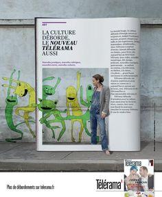 """""""La Culture déborde, le nouveau Télérama aussi"""" Agence : Les Ouvriers du Paradis - Accompagnement digital : Angström"""
