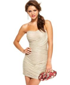 Trixxi Dress, Strapless Sweetheart - Juniors Dresses - Macy's- WANT!! Too bad only avail. in XL :(