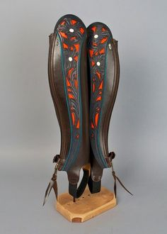 Half chaps by Pinnell Custom Leather (Master Artisan, Artisans Center of Virginia).