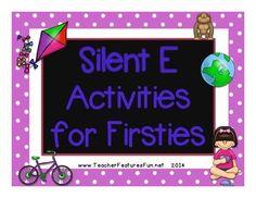 Silent E Activities for Firsties