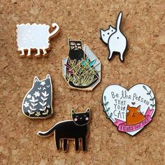 Love a good post day! Treated ourselves to some exciting new cat pin additions this week! (Makers tagged) . . . #pins #pingame #pingameproper #cats #blackcats #flair #enamelpins #addictive #collection #lapelpin #pingamestrong #pincollection #pinlover #pinbadge #pinclub #pinsofig #pincommunity #cute #catpin #betheperson