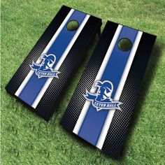 These Seton Hall Pirates cornhole boards are great for displaying collegiate pride at tailgates, cookouts, and other outings. Includes 2 wooden...