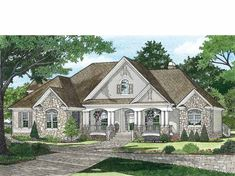 Eplans Traditional House Plan - Super-Comfortable Master Suite - 2531 Square Feet and 4 Bedrooms from Eplans - House Plan Code House Plans One Story, New House Plans, Dream House Plans, House Floor Plans, My Dream Home, Dream Homes, One Story Homes, Basement House Plans, Ranch House Plans
