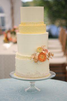 fall wedding cake by erica obrien cake design hamden, CT