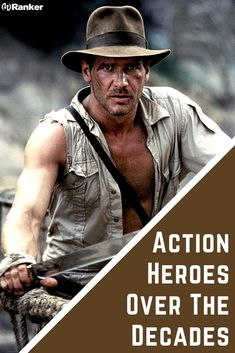 The most famous action heroes from action movies over the years! Here are some of the most famous action heroes from the best action movies. Which is the best superhero from the best action films of all time? Action Films, Best Action Movies, Good Movies, Movies To Watch List, The Great Train Robbery, Sword Fight, Best Superhero, Indiana Jones, Filmmaking