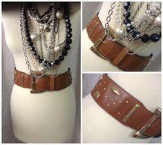 80s Large Leather Belt 'The Limited' brand 2 by GirlyStuffByDeJaVu