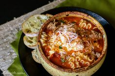 This easy lasagna soup has everything you love about lasagna - all in one bowl! It's the ultimate comfort food and the original lasagna soup recipe! Think Food, I Love Food, Good Food, Yummy Food, Fall Soup Recipes, Great Recipes, Favorite Recipes, Dinner Recipes, Breakfast Recipes