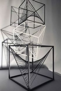 AP Art and Design Digital Submission - Sign In Conceptual Model Architecture, Facade Architecture, Architecture Student, Cube Design, 3d Design, Design Model, Geometric Shapes Art, Architectural Engineering, Arquitetura