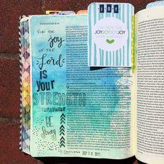 Bible journaling, Nehemiah 8:10 — Arden Ratcliff-Mann #illustratedfaith Bible Study Journal, Scripture Study, Bible Art, Bible Verses, Psalm 13, Bible Illustrations, Illustrated Faith, Journal Inspiration