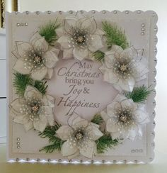 Chloes Creative Cards added a new photo. Christmas Poinsettia, Christmas Cards To Make, Xmas Cards, Handmade Christmas, Holiday Cards, Christmas Tea, Chloes Creative Cards, Stamps By Chloe, Poinsettia Cards
