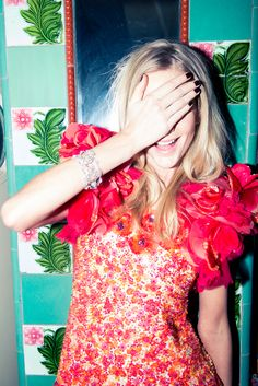 """""""I like to stock up on my trash in the airport, so I buy all the trashy magazines."""" www.thecoveteur.com/poppy-delevingne-style-chanel"""