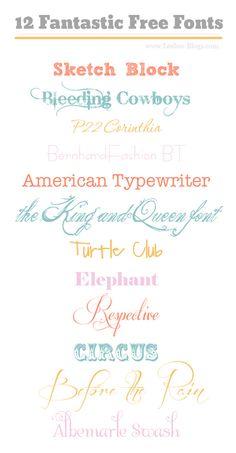 12 Fantastic Free Fonts