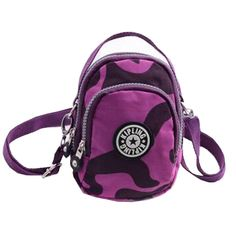 Hot Sell Women's Shoulder Messenger Purple Totem Bags Multifunction Nylon Casual Handbags Zipper Toe Handbags -- Click image for more details. (This is an Amazon Affiliate link and I receive a commission for the sales)