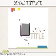 H Joyce Simple Template