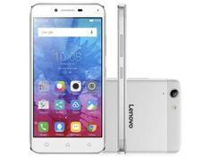 "Smartphone Lenovo Vibe K5 16GB Branco e Prata - Dual Chip 4G Câm. 13MP + Selfie 5MP Tela 5"""