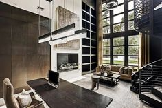 Luxury mansions in the world ( Luxury Interior, Interior And Exterior, Fleetwood Windows, Photo Deco, Luxury Office, Salon Chairs, Decoration Design, Entry Foyer, Modern Materials