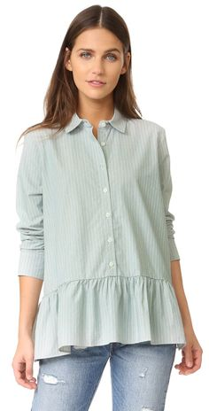 THE GREAT. The Drop Ruffle Oxford | SHOPBOP