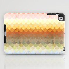 Half Circles Waves Color iPad Case by Danny Ivan