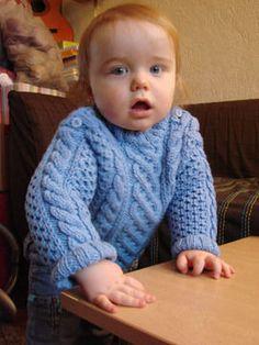 Tuto tricot : pull irlandais pour enfant 12-24 mois