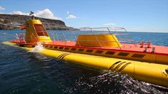 The awesome Yellow Submarine at Puerto de Mogán in south Gran Canaria: A must-do excursion.