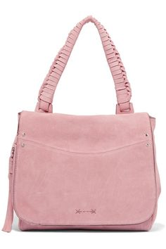 Dusky-pink suede (Cow) Snap-fastening front flap Weighs approximately 2.6lbs/ 1.2kg Designer color: Tea Rose Imported