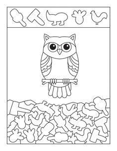 Cute Owl Hidden Picture Activity Page Infant Activities, Preschool Activities, Hidden Pictures Printables, Coloring Books, Coloring Pages, Easy Pictures To Draw, Visual Perception Activities, Sudoku, Critical Thinking Activities