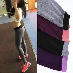 Brand new Compression Workout Leggings for 2017! With their breathable high compression material they are perfect for exercise. Available in a variety of colors. More styles and sizes coming soon. - High compression - Mid waist - Ankle length - Nylon, polyester, spandex blend - Knitted fabric .