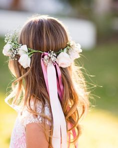 Flower girl hair: http://www.stylemepretty.com/little-black-book-blog/2014/05/20/whimsical-ojai-valley-wedding/ | Photography: Jonathan Young - http://www.jyweddings.com/