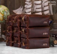 8303d34bb812 Leather Dopp Kit Bag Groomsmen Gift Personalized Leather Toiletry Bag  Monogram Gifts for Men Gifts for Him Mens Toiletry Bag