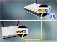 How to Connect One Router to Another to Expand a Network. This wikiHow teaches you how to add a secondary router to your home or small business network. If you want to add more computers or other devices to your home or small business. Computer Router, Router Wifi, Internet Router, Computer Help, Wireless Router, Computer Technology, Computer Basics, Medical Technology, Computer Programming