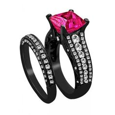Very Good Black Gold With Pink Diamond Engagement Rings More