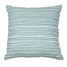 Home Collection Basics Aqua striped canvas cushion- at Debenhams.com