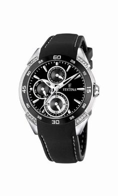 Festina Women's F16394/2 Stainless Steel with Ceramic Crystals Rubber Strap Watch Festina. $124.12. Crystals rubber strap F16394/2. Festina stainless steel with ceramic. Stainless steel. Steel and ceramic. Save 65% Off!