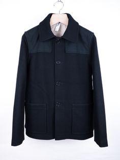 Margaret Howell, donkey jacket, wool and canvas, black.