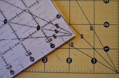 Use your ruler markings to cut rectangles, half square and equilateral triangles, diamonds, hexagons