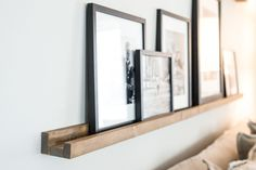 You've probably seen these around, and they are super simple to make. If you aren't looking for a gallery wall alternative, it also makes a great place to display books in your kids' bedrooms or playroom. Learn how to make your own below! | Photo Ledge DIY | Magnolia Market | Joanna Gaines | DIY | Craft | Ledge Shelf | Gallery Wall | Waco, TX |