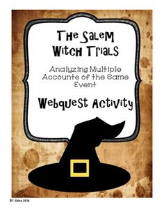 CCSS.RI.5.6With this webquest, students will navigate four different online accounts related to the Salem Witch Trials, and analyze the…