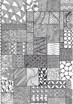 A whole page of patterns... Very handy