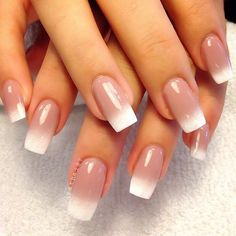 to the tips of your fingers, creating a gorgeous ombre blend. Finish with a top coat for this gleam and
