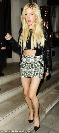 Ellie Goulding grabbed dinner with BFF Katy Perry at 34 restaurant in Mayfair, London, on May 15, 2014