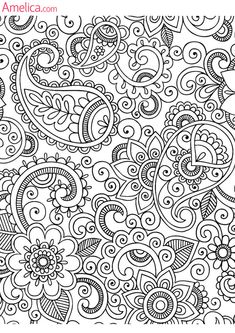 s1200 Pattern Coloring Pages, Coloring Book Pages, Coloring Sheets, Doodle Patterns, Zentangle Patterns, Embroidery Patterns, Mandala Pattern, Zentangles, Dibujos Zentangle Art